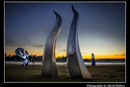 sunrise Batemans Bay sculpture on Clyde
